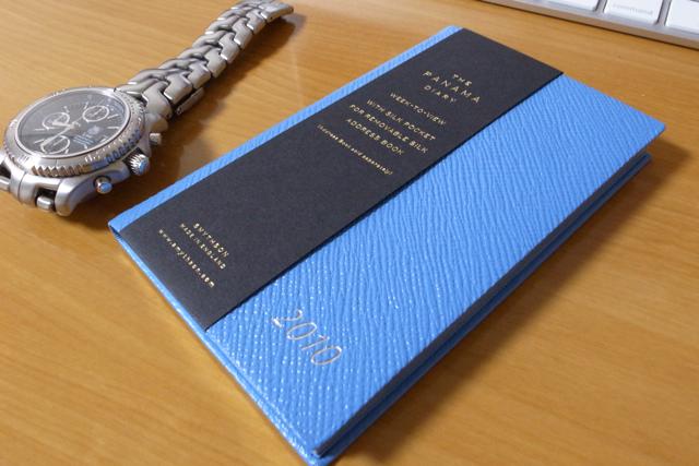 Smythson Panama Diary with pocket 2010の写真