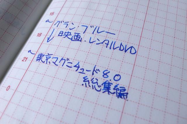 ほぼ日手帳と、セーラー万年筆の写真
