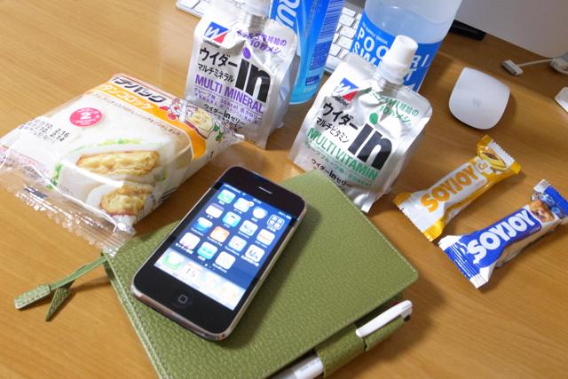 風邪グッズと、ほぼ日手帳と、iPhoneの写真