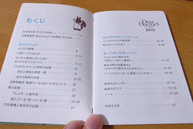 ほぼ日の健康手帳 Dear DoctorS 2010の写真