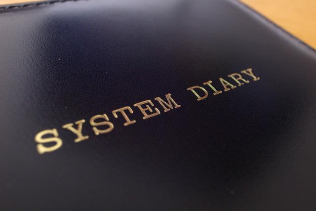 システムダイアリー 革アセンブルセットの写真