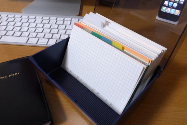 システムダイアリー プラスチックケースの写真