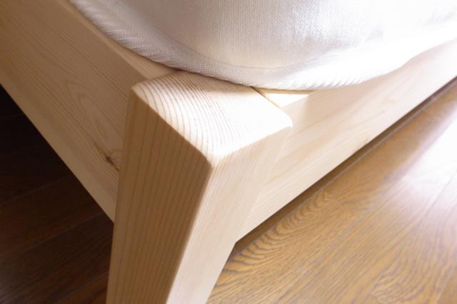 無印良品 パイン材 シングルベッドの写真