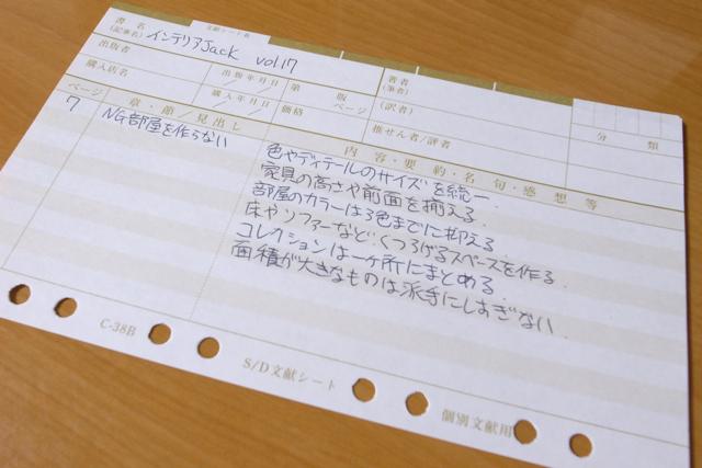 SD手帳 個別文献シート(C−38B)の写真