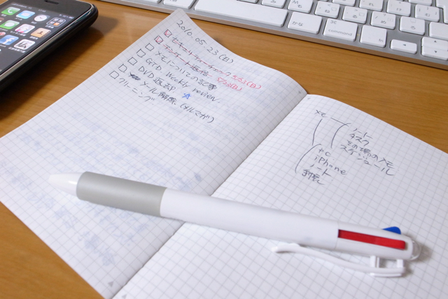 ほぼ日のメモ帳を使ったノート術の写真