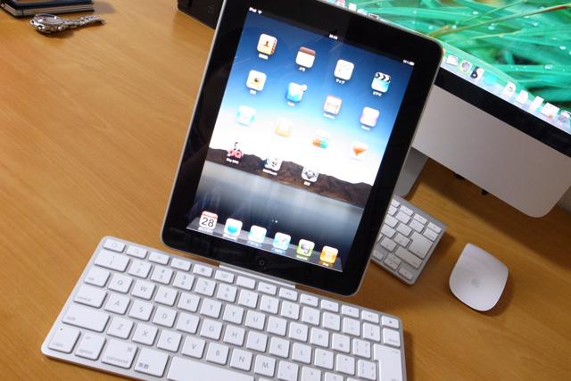 ipad キーボードドックの写真