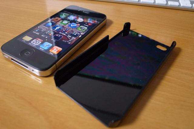 iPhone4ケース ハードプロテクト特殊印刷カバー(携帯ケース)【050 ヘビ柄(黒)】の写真
