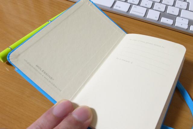 Moleskine 2011年 ウィークリーダイアリー ホリゾンタル(横型) / ハードカバー XSの写真