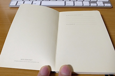MOLESKINE 2011 スケジュール + ノート ダイアリー ソフトカバーの写真