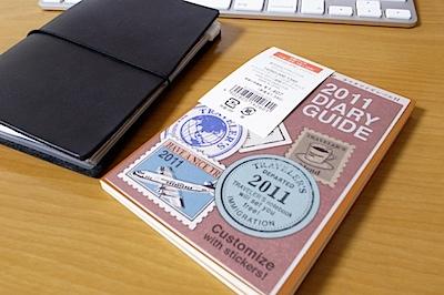 トラベラーズノート パスポートサイズ 2011 週間ダイアリーの写真