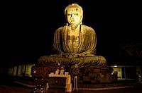 夜の鎌倉大仏の写真