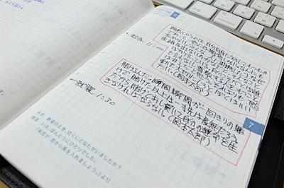休日の、ほぼ日手帳の写真