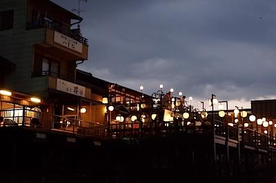 先斗町 川床の写真
