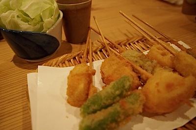先斗町で食べた串揚げの写真