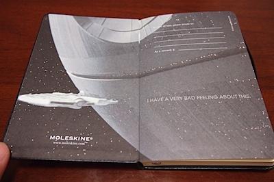 MOLESKINE スターウォーズ 限定ノートブックの写真