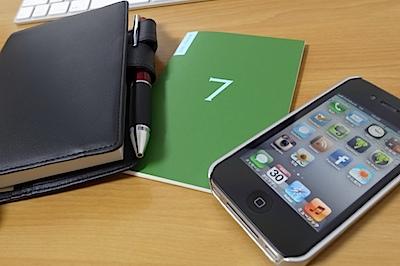 ほぼ日手帳と、ほぼ日の週間手帳と、iPhoneの写真