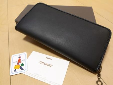 吉田カバン ポーター グランジ(PORTER GRUNGE)長財布 ラウンドファスナーの写真