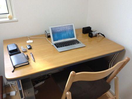 私の机の写真 2012.09.04