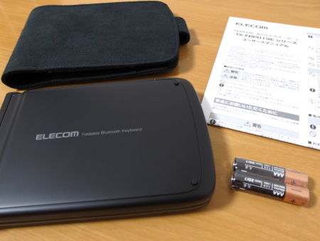 ELECOM iPhone用 Bluetooth キーボード(TK-FBP019E)の写真