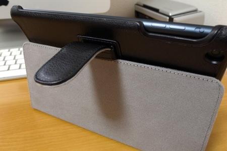 iBUFFALO iPad mini レザーケース ブラック BSIPD712LBKの写真