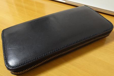 吉田カバンの革製 長財布 PORTER GRUNGE ラウンドファスナーの写真