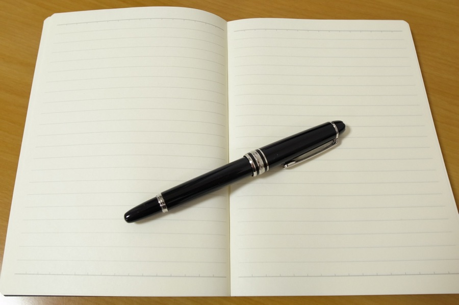 無印良品 滑らかな書き味のノートの中身の写真
