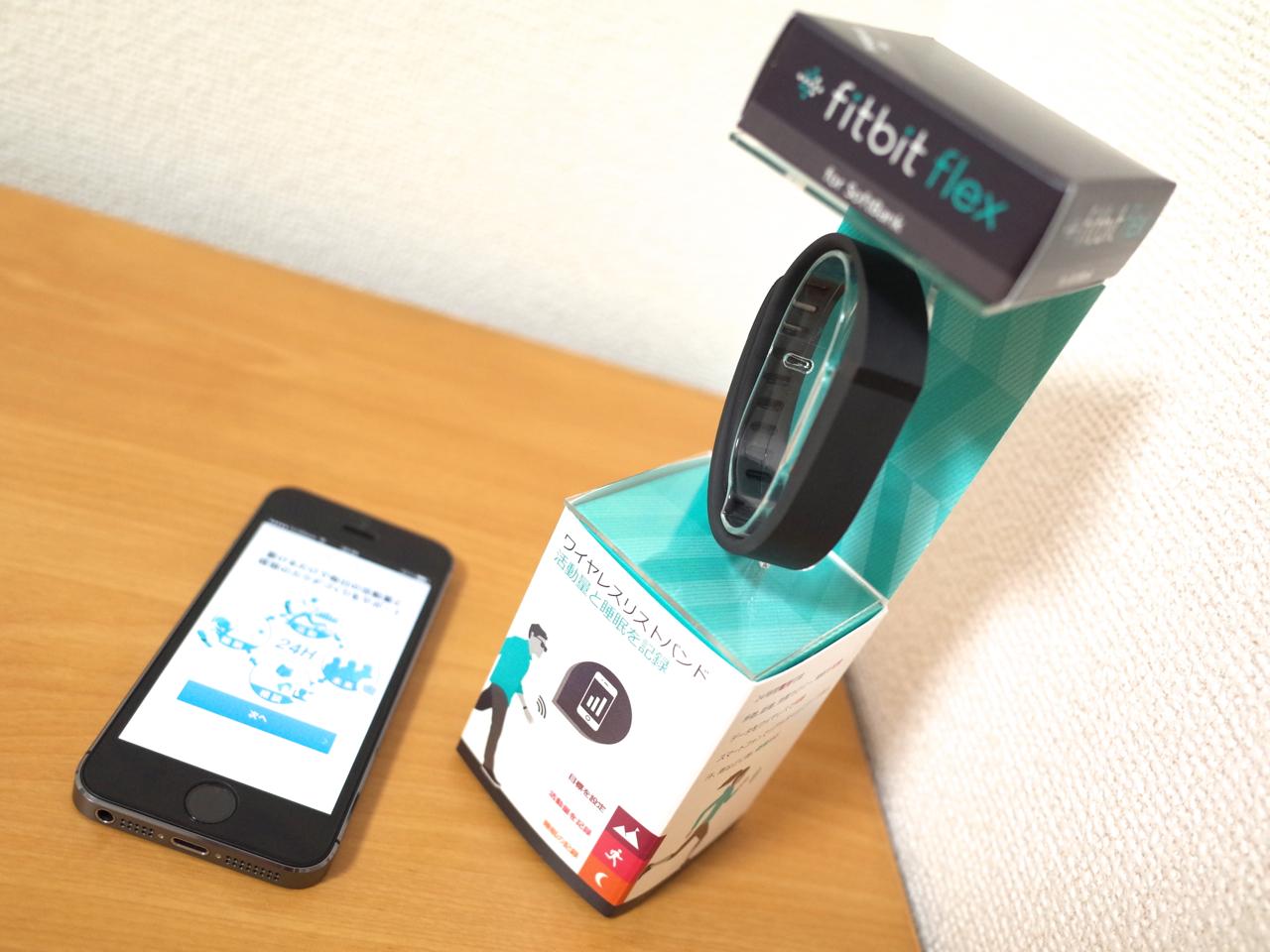 fitbit flexの写真