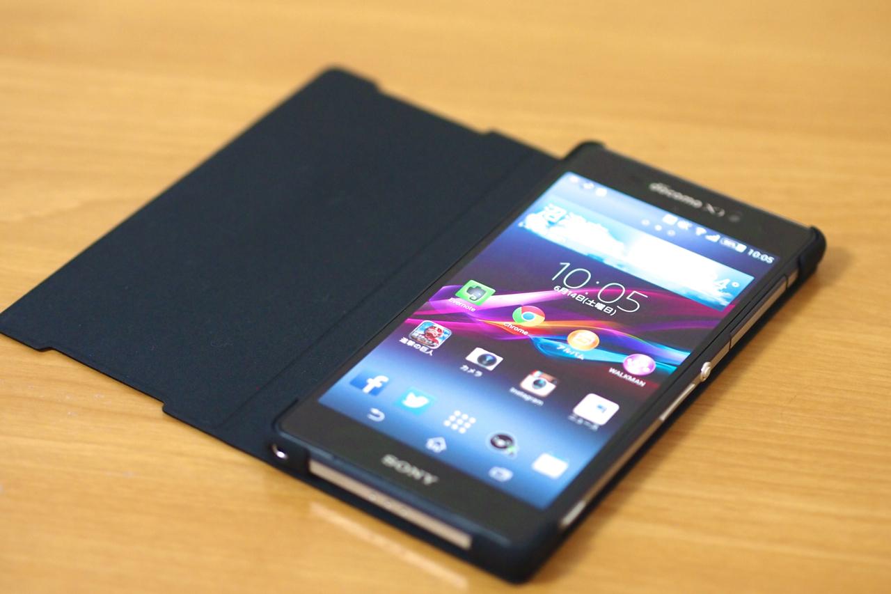 Xperia Z2用 SONY純正カバーの写真