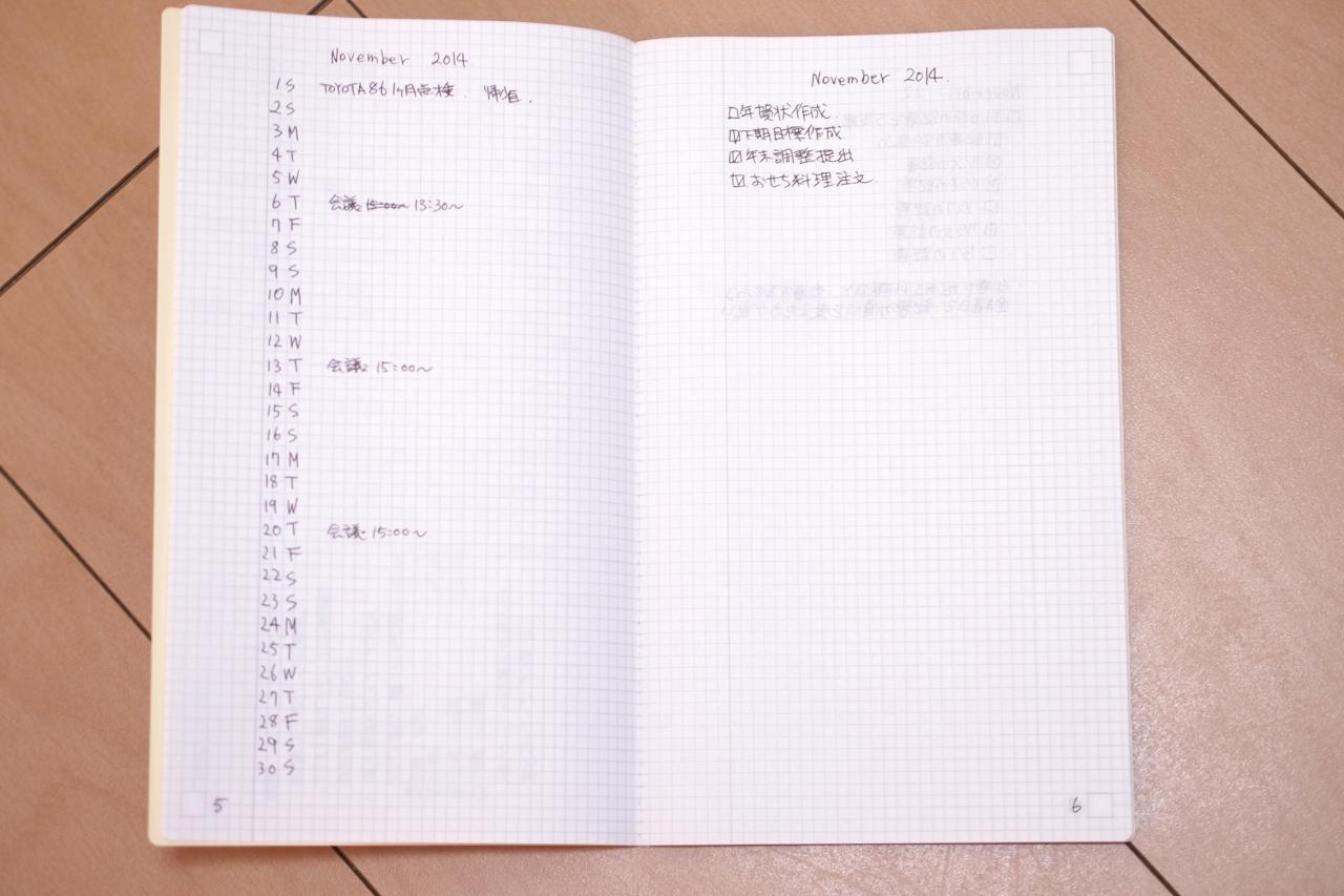ジブン手帳のIDEAノートでBullet Journalを試す写真