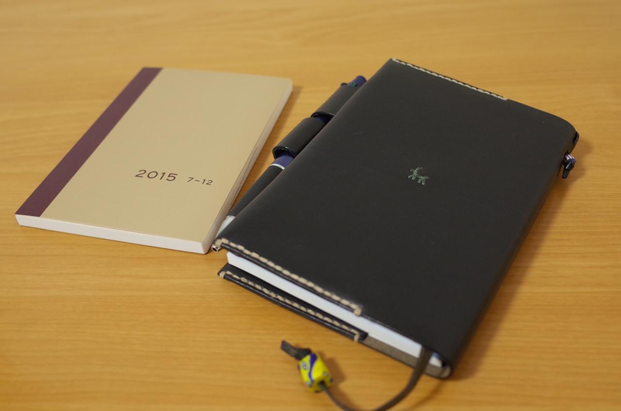 ほぼ日手帳 avecをカバーにセットした写真