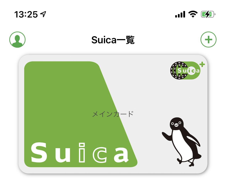 モバイルSuicaにカード名が入力された状態の画像